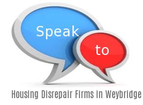 Speak to Local Housing Disrepair Firms in Weybridge