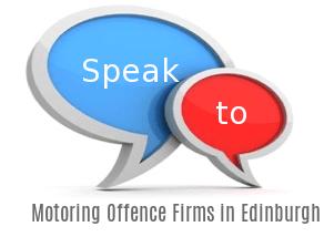 Speak to Local Motoring Offence Firms in Edinburgh